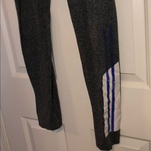 SO Pants - Grey leggings with blue strip along calf!